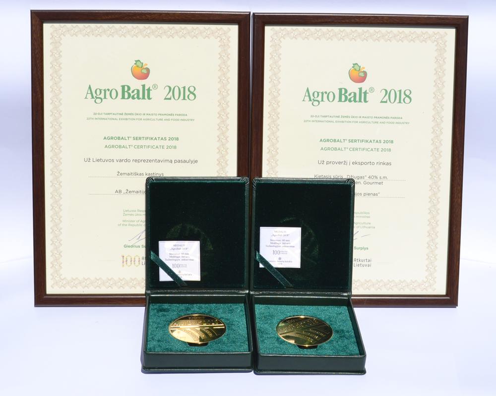 Aukso medaliai - už proveržį eksporto rinkose ir Lietuvos vardo reprezentavimą pasaulyje
