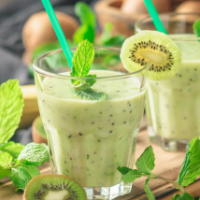 Banana and Kiwi Milkshake