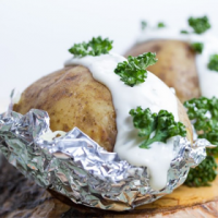 Oven-Baked Foil-Wrapped Potatoes