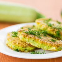 Courgette Pancakes with Curd