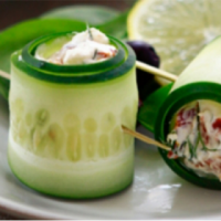 Cucumber Rolls with Curd