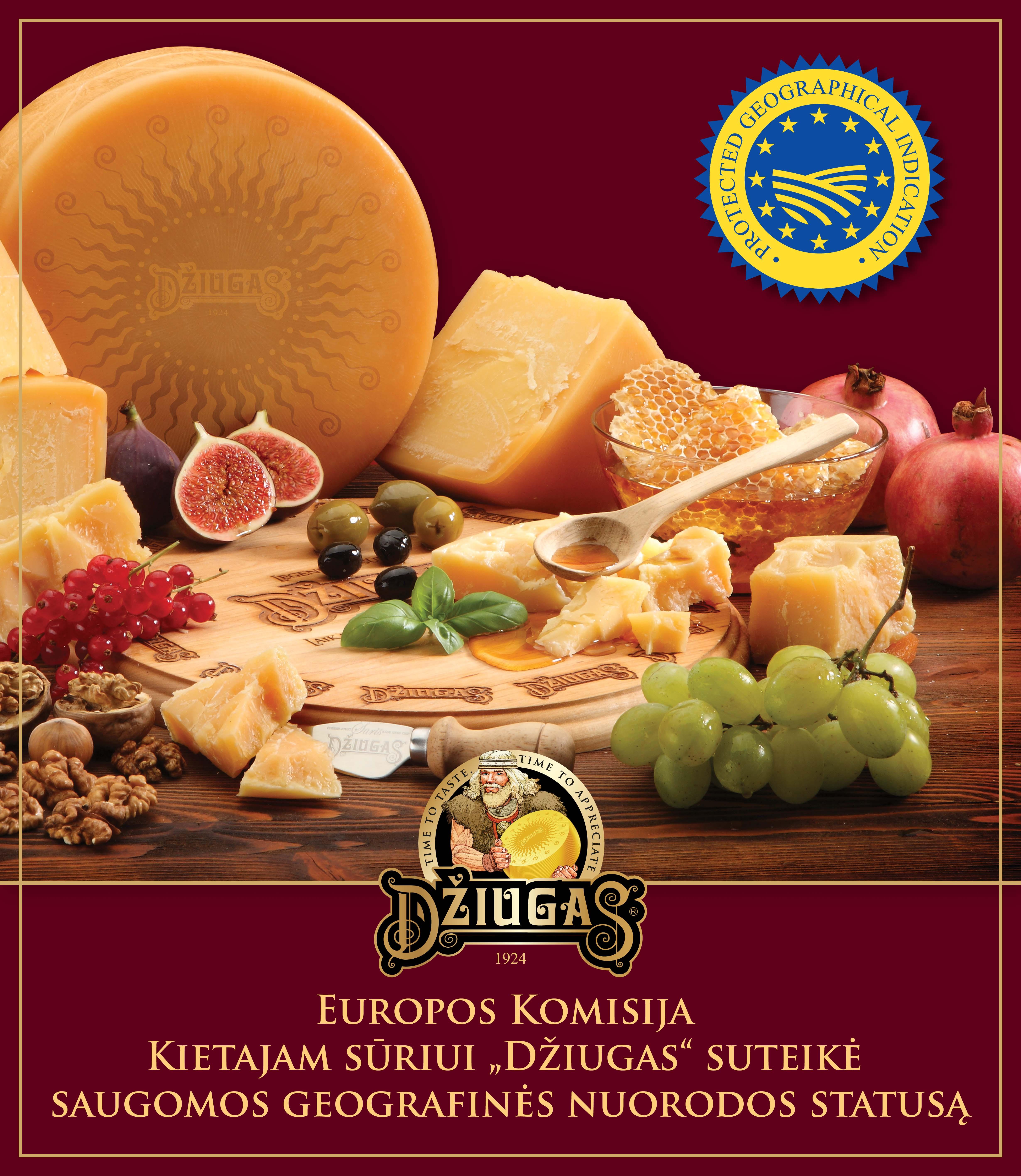 Sūriui DŽIUGAS — Europos Komisijos saugoma geografinė nuoroda!